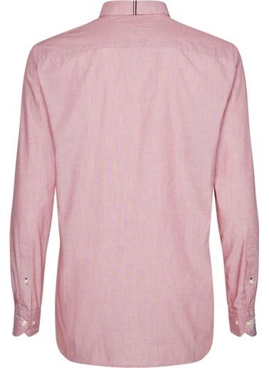 Tommy Hilfiger Erkek Fıl A Fıl Shırt Gömlek MW0MW10677 Kırmızı